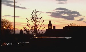 Sunset over town hall by Karen Heyward