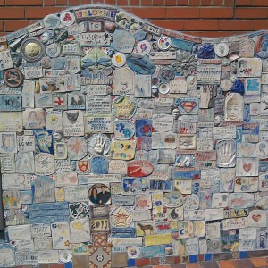 Tile mural made by local schools